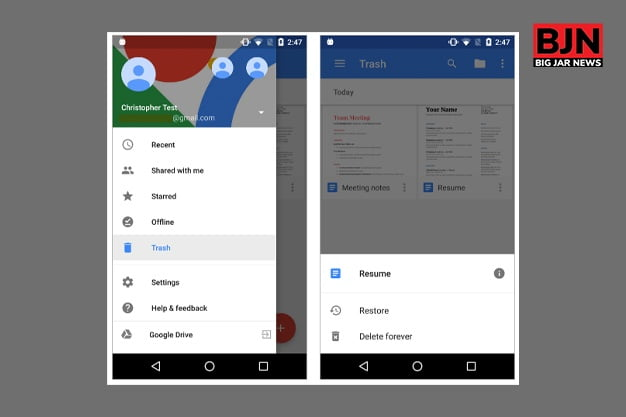 Deleting The Trash Files From Google Photo App